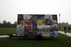 Launch event Billboards with website images