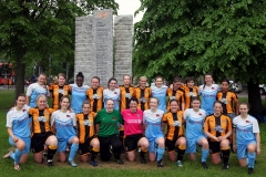 Town's V gown's women match at launch event