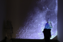 Carrying the moon video installation