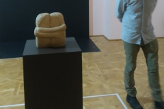 Brancusi's first version of The Kiss. National Art Gallery Craiova, Romania